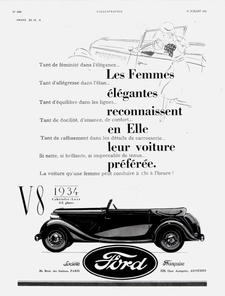 1934 Ford V8 Cabriolet Luxe - France. Credit to Wikimedia.org