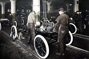 Ford Assembly Line 1913-14. Credit to The Henry Ford.