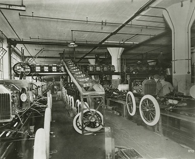 Ford Highland Park Assembly Line 1914. Credit to The Henry Ford.