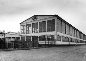 Stockholms frihamn 1930 Fordbyggnaden exteriör. Credit to Wikipedia.