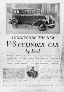 Announcing The New Ford V8 1932.