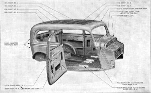 1933-34 Ford Tudor Body 40-700. Pic 1.