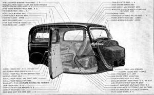 1933-34 Ford Tudor Body 40-700. Pic 2.