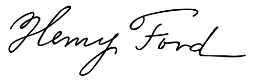 Henry Ford Signature. Credit to Wikimedia.