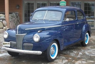1941 Ford Tudor Deluxe. Credit to Volo Auto Museum.