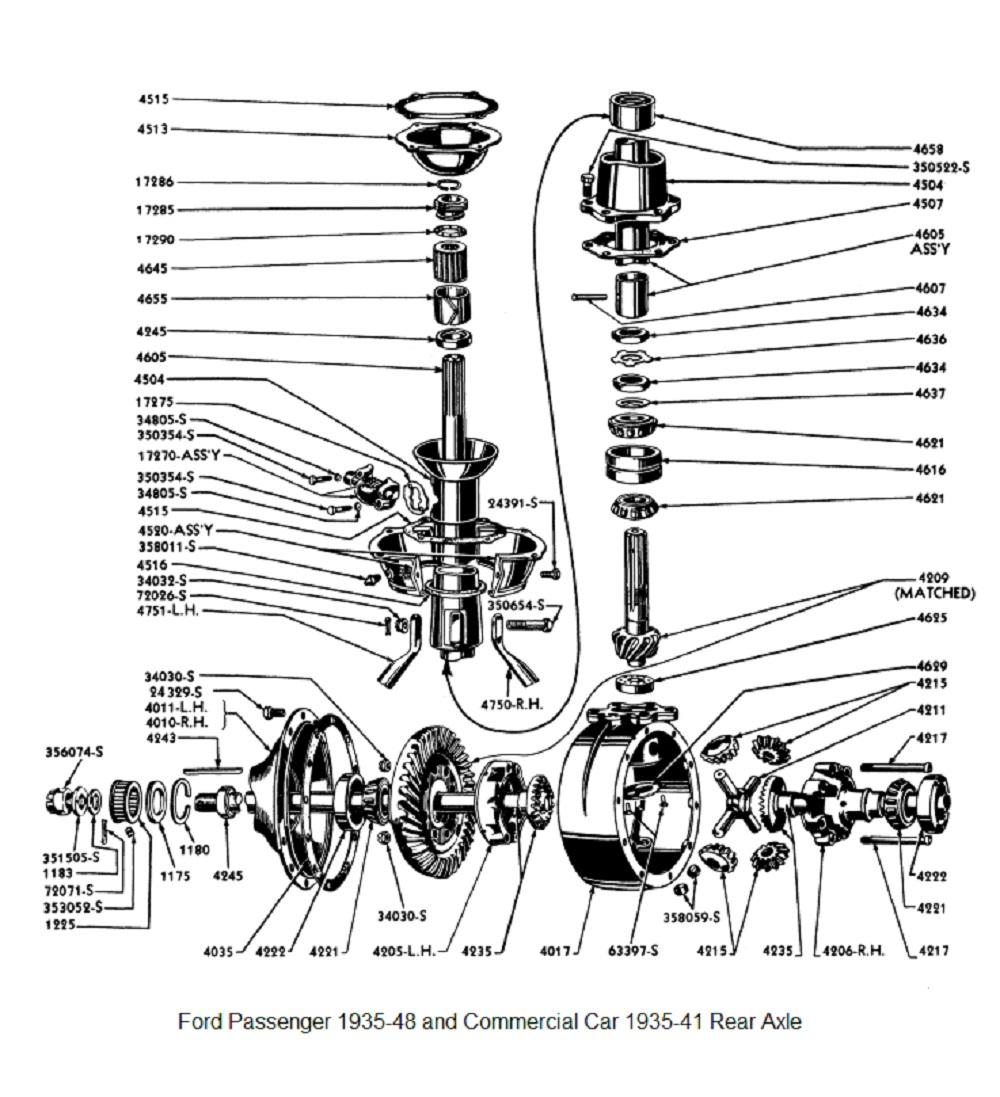 Ford Rear Axle 1935-48