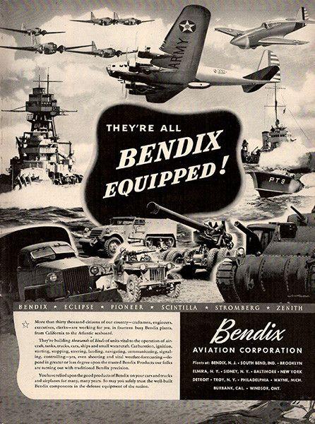Bendix Aviation Company 1941. Credit to Pinterest