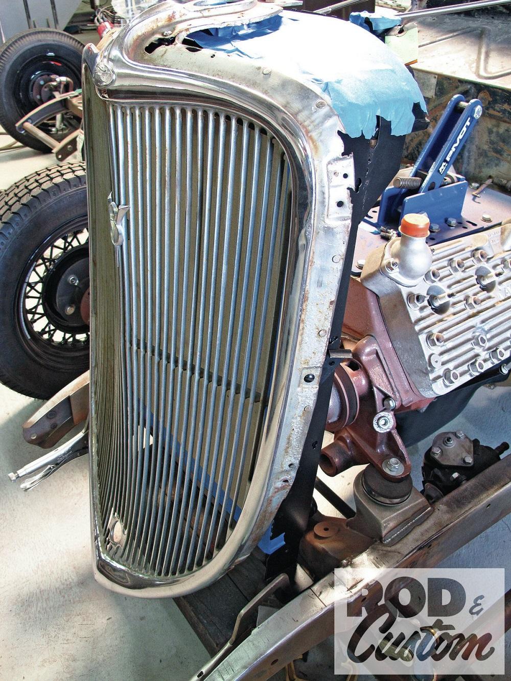 1933 Ford Tudor Original Grille. Credit to Rod & Custom.