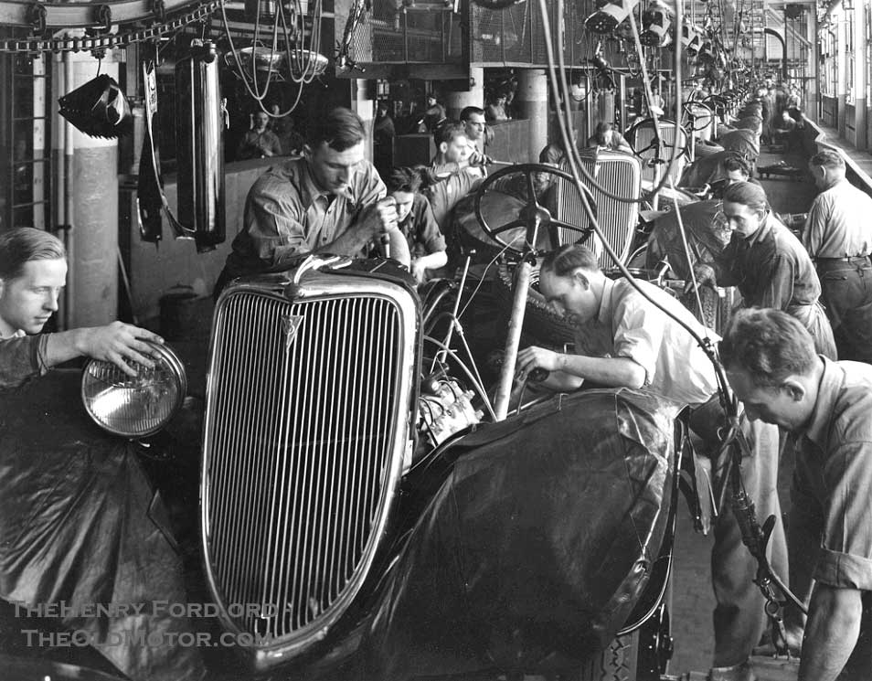 Ford Assembly Line 1934. Credit to The Henry Ford and TheOldMotor.com